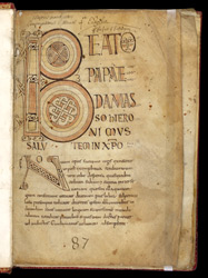 Jerome's Letter to Pope Damasus, in a Gospels from Brittany